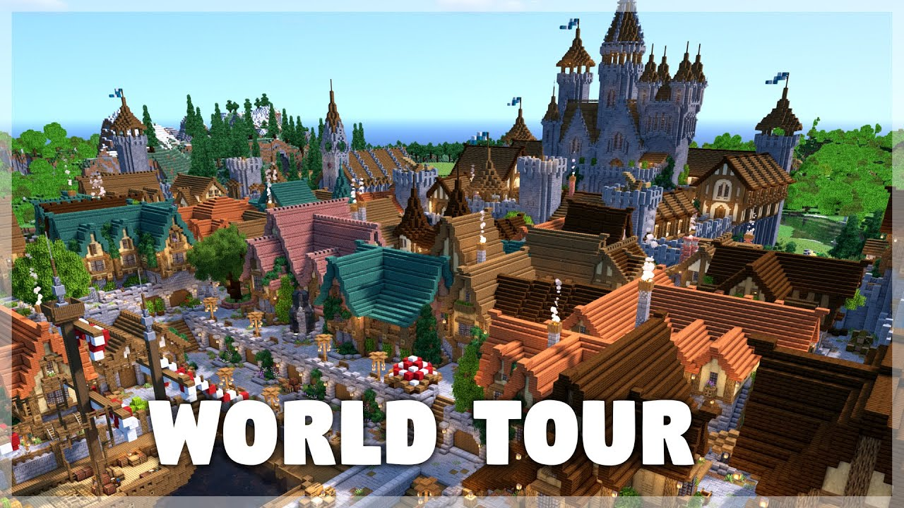 Minecraft: Medieval Castle and Docks World Tour & Download
