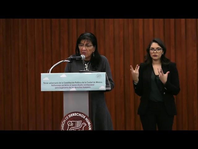 Discurso de Nashieli Hernández, Presidenta de #CDHCM en Foro Aniversario de la #ConstituciónCDMX