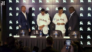 Miami Marlins give the Cuban Mesa brothers their jerseys