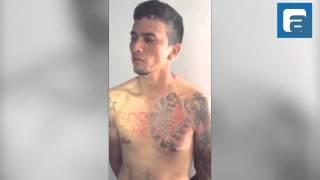 Após ser questionado da origem da sua tatuagem, homem nega participação em alguma facção