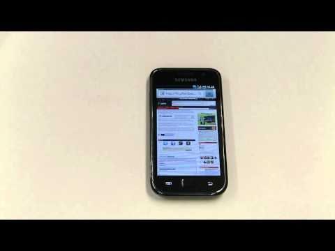Samsung Galaxy S - Käyttöliittymä, selain, Google Maps