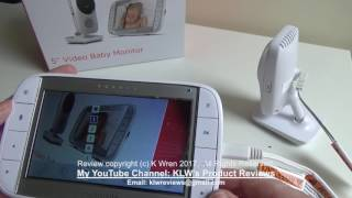 Review of Motorola MBP48 5 inch Video Baby Monitor