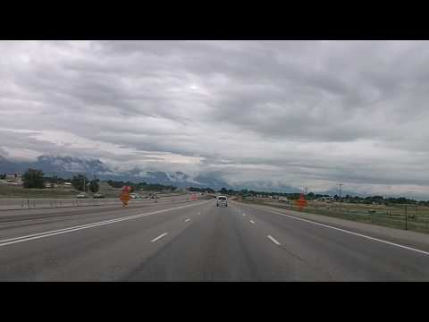 Salt Lake City to Springville, Utah Time Lapse Drive