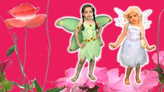 ELSA AND ANNA BECOME FAIRIES! Magic Transformation + Dress Up - Princesses In Real Life