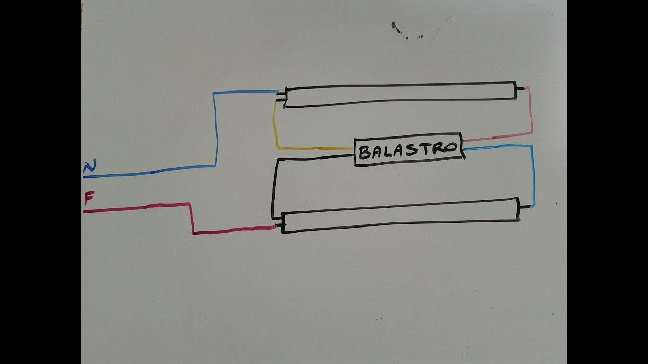 Como conectar lamparas fluorescentes 1 4 instalaciones - Como instalar lamparas led ...
