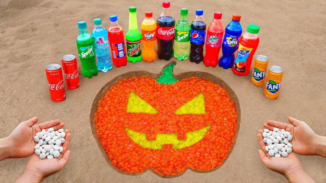 Download PUMPKIN Logo in the Hole with Orbeez, Coca Cola, Mentos & Popular Sodas