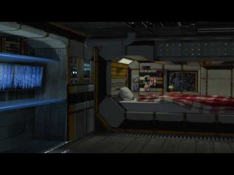 Spaceship Bedroom Ambience – Relaxing in the Sleeping Quarte