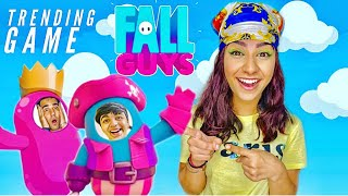PLAYING TRENDING GAME FALL GUYS WITH BROTHER & SISTER | Rimorav Vlogs