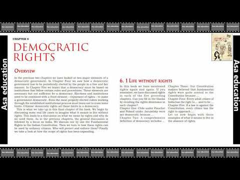 Ch 6.1 Democratic Rights (Political Science, Grade 9, CBSE) Easy Hindi Explanation