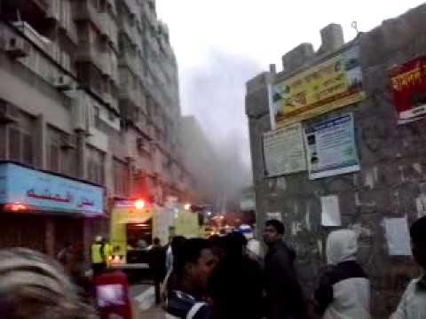 Fire on Al Rajhi Building in Batha, Riyadh.mp4