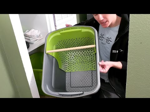Part 1, Conversion to Wood Pellets, Tilt and Sift Litter Cube Litter Box