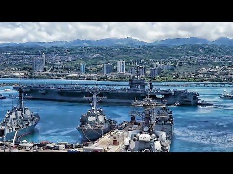 Warships Depart Pearl Harbor • Time Lapse