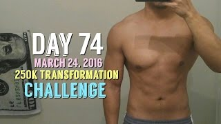 Body Transformation Day 74: 250k Transformation Challenge - Kinobody Review - Fasting Weight Loss(, 2016-03-24T17:12:21.000Z)