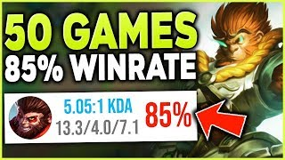 Download HIGHEST WIN RATE WUKONG WORLD?! HARAMBE FLEXES HIS 85% WUKONG WIN RATE - League of Legends Mp3 and Videos
