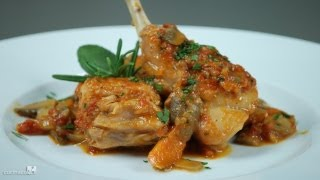Rabbit Chasseur With Mushrooms