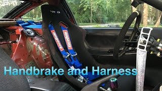 240sx drift build ep 22 e brake and 5 point harness