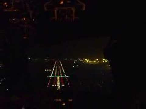 Cockpit landing at night Mumbay (Bombay)
