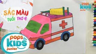 Sắc Màu Tuổi Thơ - Tập 48 - Bé Tập Vẽ Xe Cứu Thương | How To Draw Colorful Ambulance