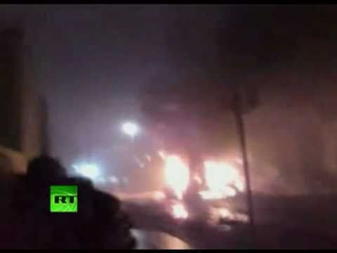 LIBYA- NIGHT TIME WAR FOOTAGE AND AFTERMATH
