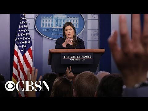 Watch Live: White House press briefing today with Sarah Huckabee Sanders