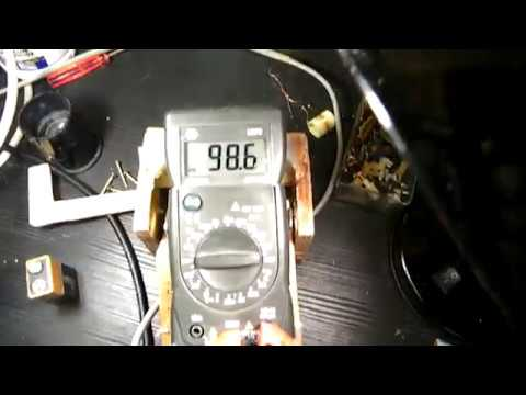 AVO meter supplied by the mains 230 V-50 Hz instead of a 9 V battery (issues...)
