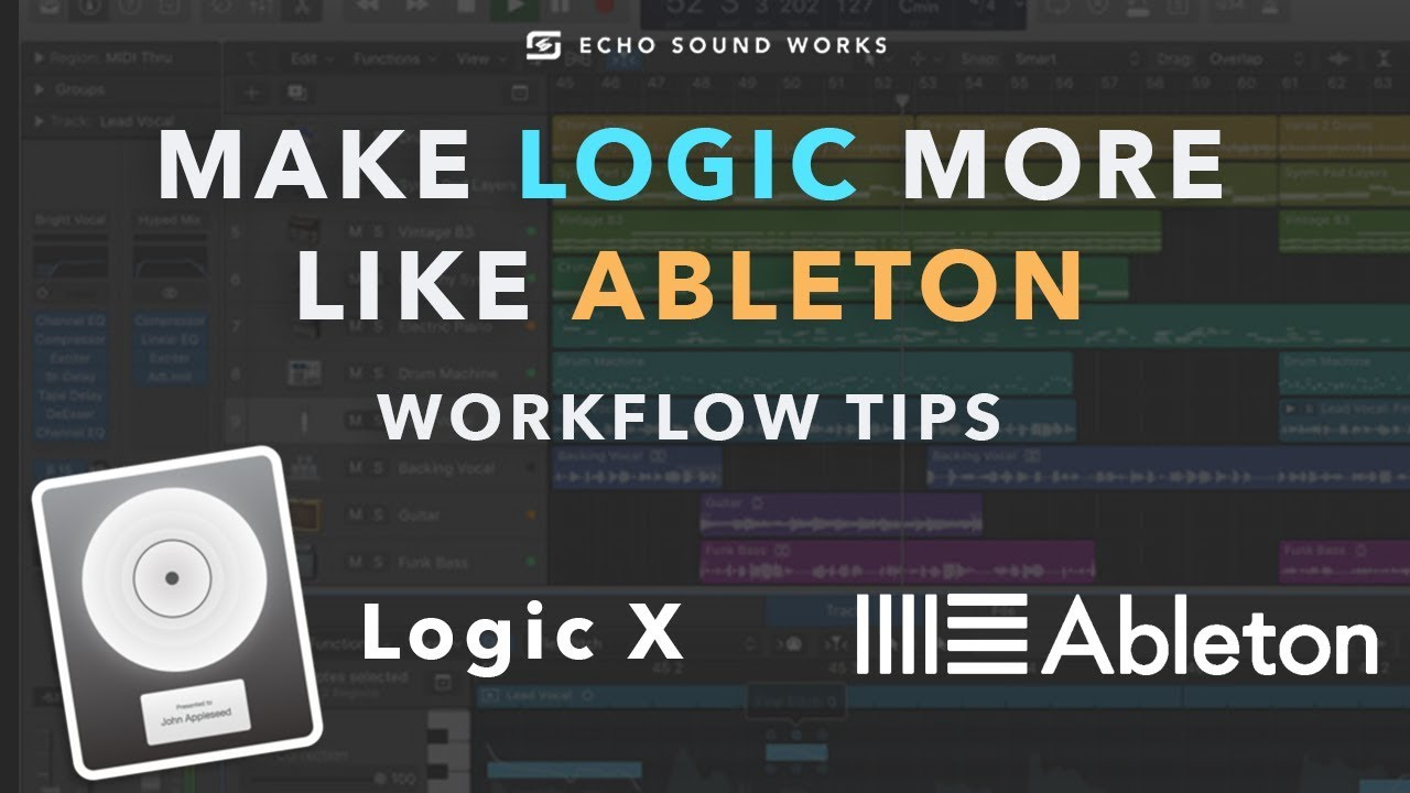 Logic X Workflow Tips | Make Logic More Like Ableton