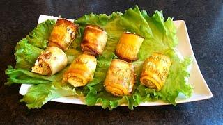Лучший рецепт приготовления кабачков Готовим рулетики из молодых кабачков со сливочным сыром