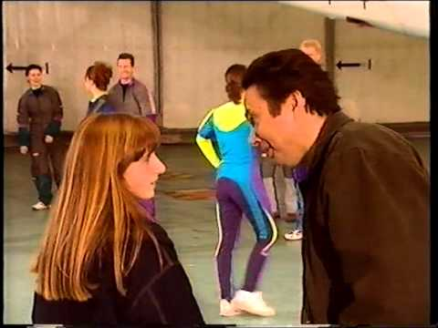 Joanne Heywood as the parachute instructor in Coronation Street.MPG
