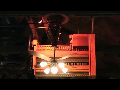 1970s Belt Drive Casablanca Belt Drive Boubon St Ceiling Fans In Organ Stop Pizza Youtube
