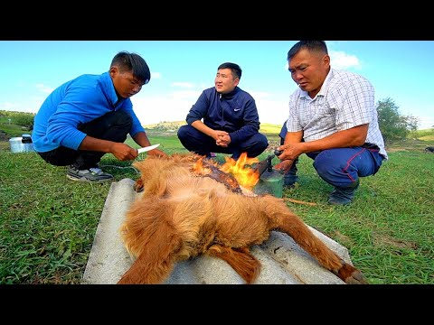 "Mongolian BBQ ""Boodog"" - CRAZY Nomadic Food in Mongolia 