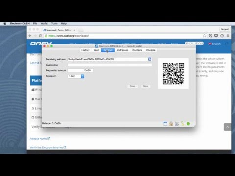 Dash: Electrum Wallet Install - MAC = G16E01