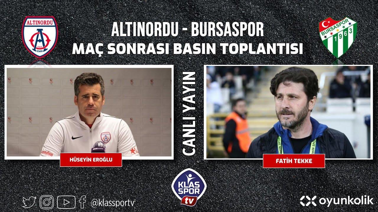 Altınordu - Bursaspor Basın Toplantısı ᴴᴰ (CANLI)