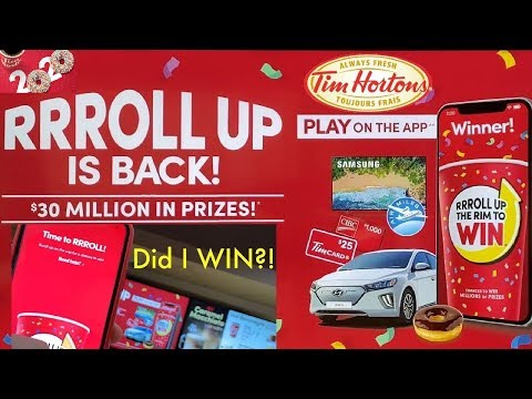 My First Tim Hortons ROLL UP THE RIM 2020 Coffee + Show The New Game + How To Play Without A Card!