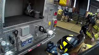 Residential Structure Fire/ Helmet Cam firefighter