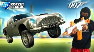 Becoming JAMES BOND by using the NEWLY ADDED 007 Aston Martin car in Rocket League
