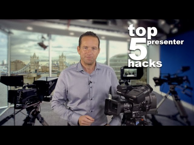 Our Top 5 TV Presenter Hacks and Tips