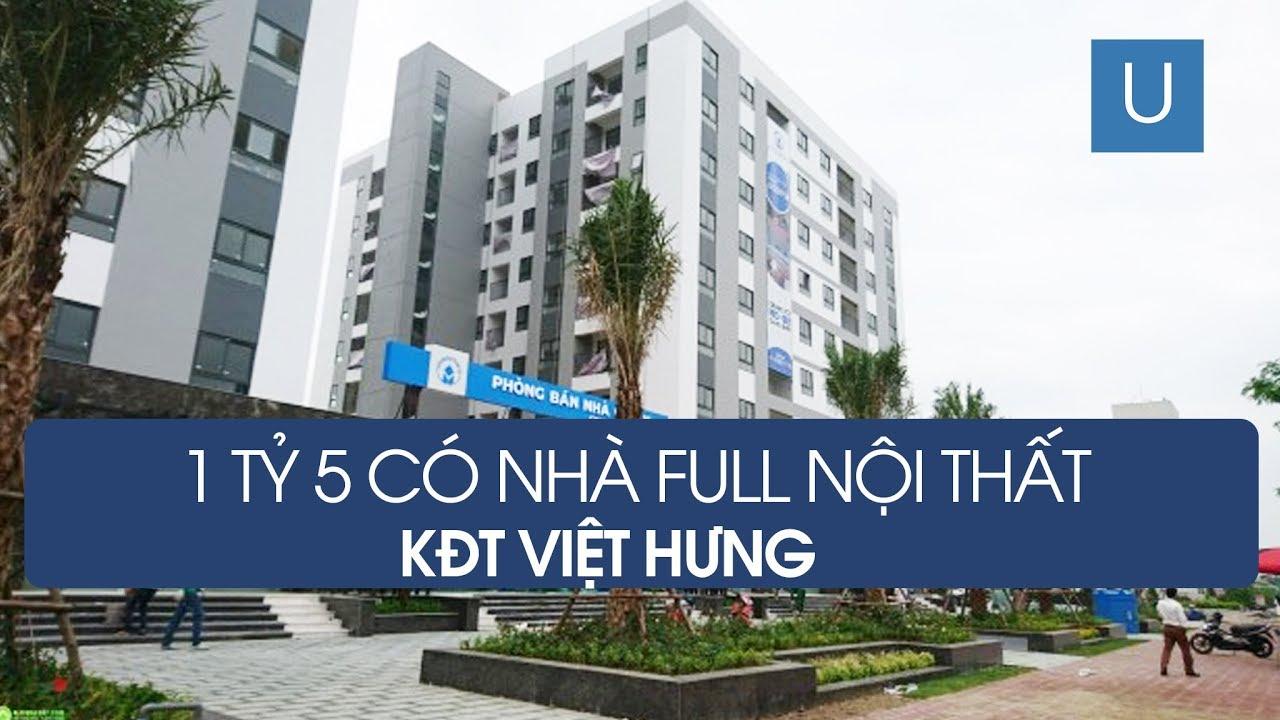 Chung cư NO 08 Giang Biên | Chỉ 1,5 tỷ có ngay căn hộ full nội thất trong KĐT Việt Hưng