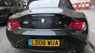 brutal bmw z4 exhaust sound compilation revving accelerations fly by