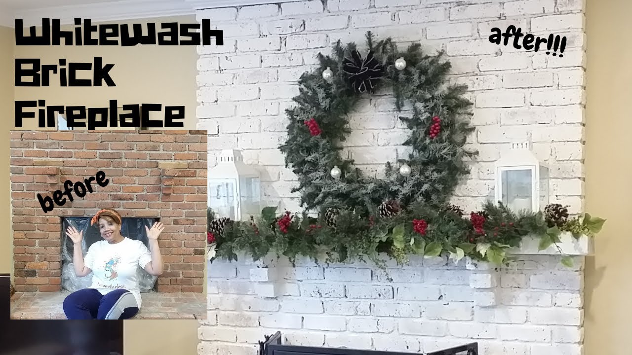 Lime Wash Brick Fireplace Diy How To Whitewash Brick Fireplace Romabio Limewash