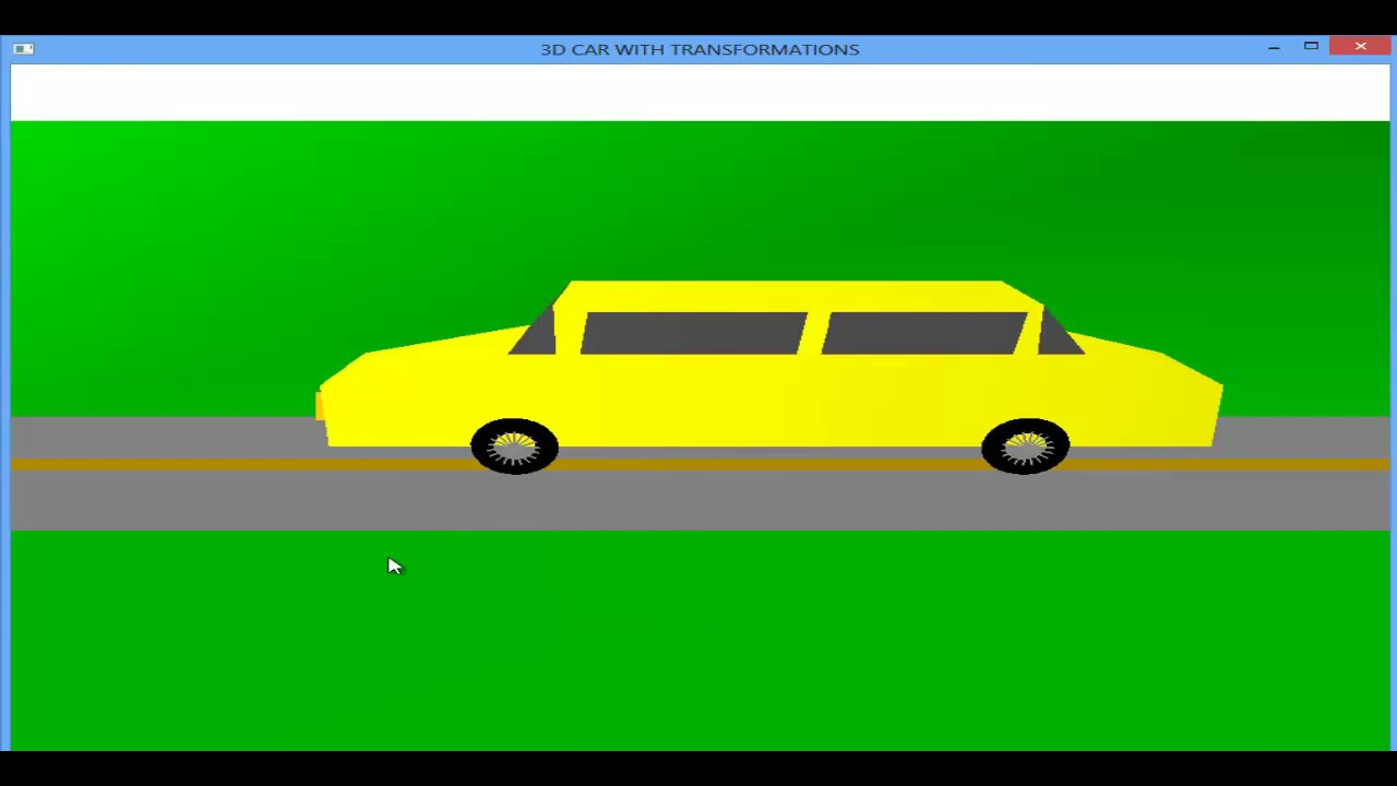 OpenGL Projects: 3D Car Animation OpenGL Computer Graphics