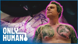 Man Has To Hide Is Impressive Body Tattoos: The Body Beneath The Suit | Only Human