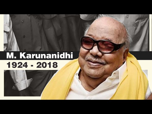 DMK chief and five time Tamil Nadu chief minister M  Karunanidhi     DMK chief and five time Tamil Nadu chief minister M  Karunanidhi passes away