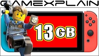 LEGO City Undercover Box States 13GB Download Required on Switch