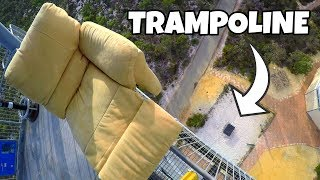 LAZY BOY Vs. TRAMPOLINE from 45m! by : How Ridiculous