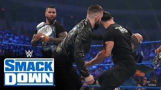 Finn Bálor invades The Bloodline s Family Celebration SmackDown Aug 27 2021