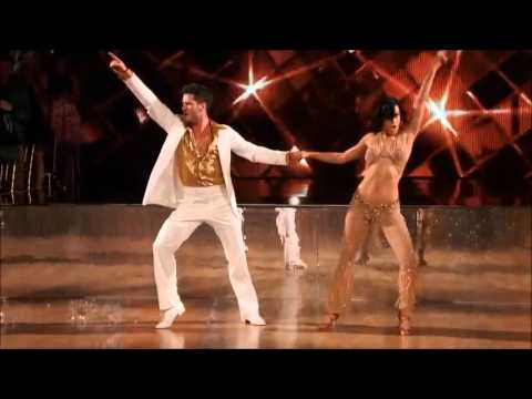 Rumer Willis and Val Chmerkovskiy  Salsa