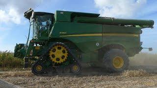 John Deere S790i, S690i & T670i Working Hard in The Field Threshing Barley | Big Harvest | DK Agri