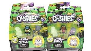 Teenage Mutant Ninja Turtles Ooshies 4 Pack Pencil Toppers Series 1 Unboxing Toy Review