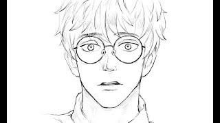 glasses drawing boy draw easy drawings getdrawings paintingvalley