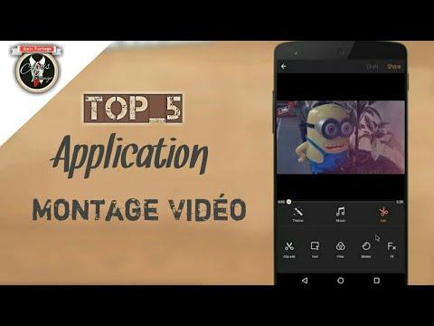 TOP 5 Meilleurs Application de montage vidéo ANDROID-IOS  Éditeur gratuit 2017/2018